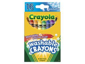 CRAYOLA WASHABLE CRAYONS 16CT REG