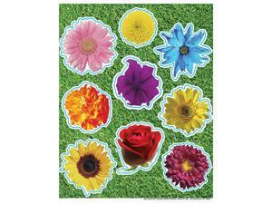 PHOTO FLOWER GLITTER STICKERS