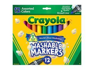 CRAYOLA WASHABLE MARKERS 12CT ASST