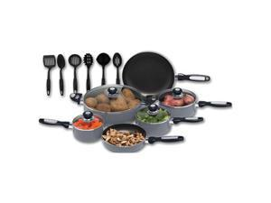Chef's Secret® 16pc Hard Anodized Aluminum Cookware Set