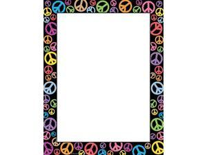 PEACE SIGNS COMPUTER PAPER