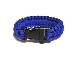 Survival Bracelet w/Whistle - Blue