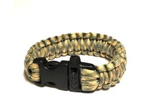 Survival Bracelet w/Whistle - Light Grn