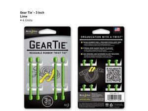 Gear Tie 3in 4pk - Lime