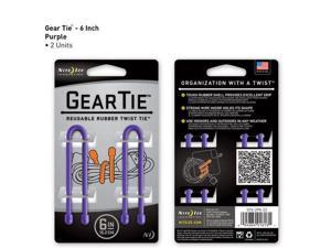 Gear Tie 6in 2 pk - Purple