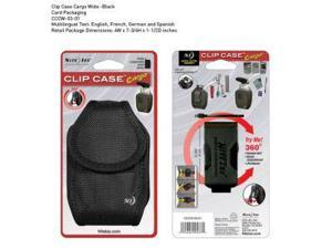 Clip Case Cargo Phone Holster, Wide, Black