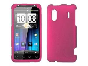 HTC Hero S/EVO Design 4G Rubberized Snap-On Cover, Hot Pink