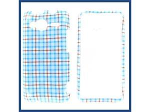 HTC Evo Shift 4G Blue Check Protective Case