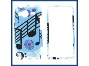 HTC Evo Shift 4G Blue Music Protective Case