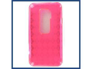 HTC Evo 3D Crystal Hot Pink Skin Case