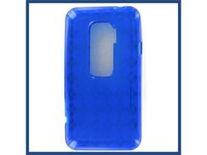 HTC Evo 3D Crystal Blue Skin Case