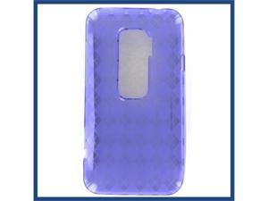HTC Evo 3D Crystal Purple Skin Case