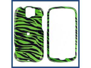 HTC MyTouch Slide 2D Zebra on Green Protective Case