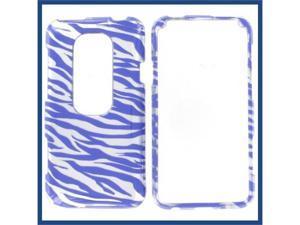 HTC Evo 3D 2D Silver Purple Zebra Protective Case