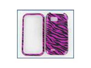 LG C800 (MyTouch Q) Zebra on Hot Pink Protective Case