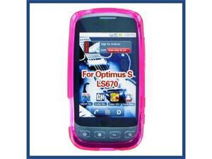 LG LS670 (Optimus S) / VM670 (Optimus V) Crystal Hot Pink Skin Case
