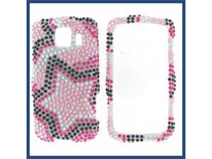 LG LS670 (Optimus S) / VM670 (Optimus V) Full Diamond Star on Color Protective Case