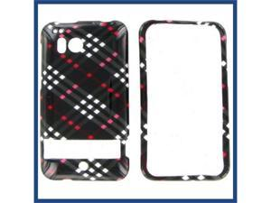 HTC Thunderbolt Black Check Protective Case