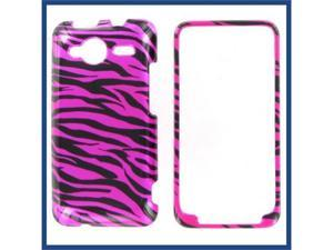 HTC Evo Shift 4G Zebra on Hot Pink (Hot Pink/Black) Protective Case