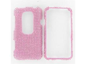 HTC Evo 3D Full Diamond Pink Protective Case