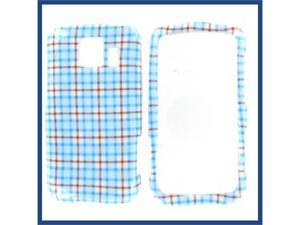 LG LS670 (Optimus S) / VM670 (Optimus V) Blue Check Protective Case