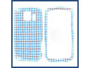 LG LS670 (Optimus S) / VM670 (Optimus V) Blue Check Protective Case