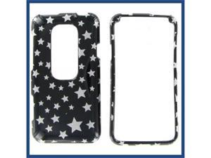 HTC Evo 3D Star on Black Protective Case