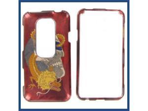 HTC Evo 3D Skull w/Dragon Protective Case