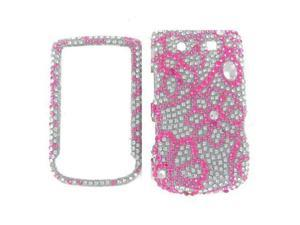 Blackberry 9800 / 9810 (Torch) Full Diamond 8 Leaves Flowers Protective Case