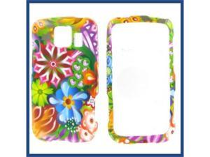 LG LS670 (Optimus S) / VM670 (Optimus V) Magic Flowers Protective Case