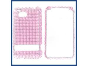 HTC Thunderbolt Full Diamond Pink Protective Case