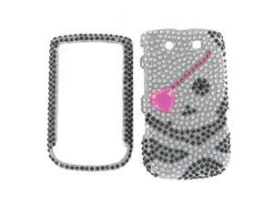 Blackberry 9800 / 9810 (Torch) Full Diamond Black Skull #1 Protective Case