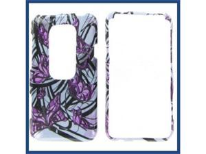 HTC Evo 3D Purple Butterfly Protective Case