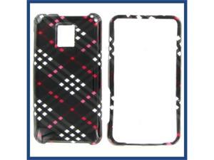 LG G2X (Optimus 2X) Black Check Protective Case