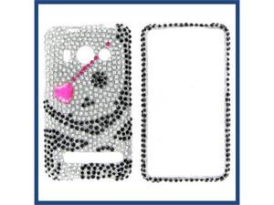 HTC Evo 4G Full Diamond Black Skull #1 Protective Case