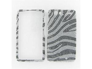 Motorola XT912 (Droid Razr) Full Diamond Silver Zebra Protective Case