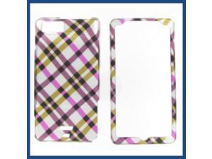 Motorola MB810 (DROID X) / MB870 (DROID X2) Hot Pink Plaid Protective Case