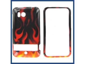 HTC Thunderbolt Red Flame Protective Case