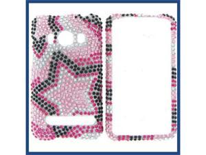 HTC Evo 4G Full Diamond Star on Color Protective Case