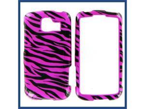 LG LS670 (Optimus S) / VM670 (Optimus V) Zebra on Hot Pink (Hot Pink/Black) Protective Case