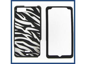 Motorola MB810 (DROID X) / MB870 (DROID X2) illusion Zebra (Black) Protective Case