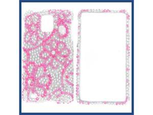 Samsung i997 (Infuse 4G) Full Diamond 8 Leaves Flowers Protective Case