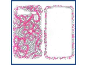 HTC Incredible S / Incredible 2 Full Diamond 8 Leaves Flowers Protective Case