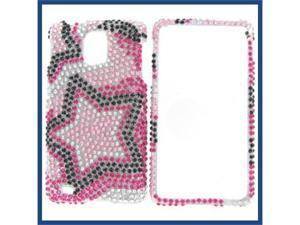 Samsung i997 (Infuse 4G) Full Diamond Star on Color Protective Case