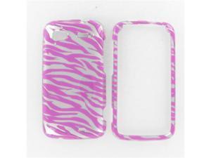 HTC Pyramid / Sensation 4G 2D Silver Pink Zebra Protective Case