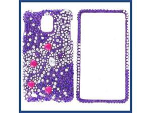 Samsung i997 (Infuse 4G) Full Diamond Purple Galaxies Protective Case