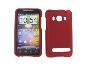 HTC Evo 4G Red Rubber Feel Protective Case