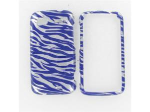 HTC Pyramid / Sensation 4G 2D Silver Purple Zebra Protective Case