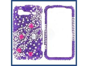 HTC Incredible S / Incredible 2 Full Diamond Purple Galaxies Protective Case