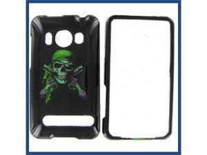 HTC Evo 4G Green Skull Protective Case